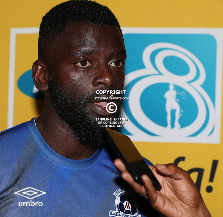 Denis-Danso Weidlich of Maritzburg Utd during the MTN8 semi-final 2nd-leg Press Conference with the Head Coach and Selected players United,Harry Gwala Stadium in  Pietermaritzburg. 7th September -2017 (Photo by Steve Haag)