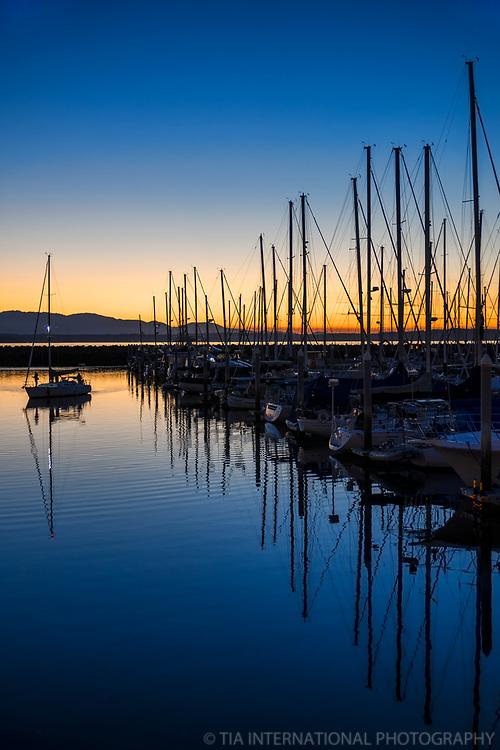 Sailing on Shilshole @ Sunset