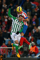 03.02.2013 SPAIN -  La Liga 12/13 Matchday 22th  match played between Atletico de Madrid vs Real Betis Balompie (1-0) at Vicente Calderon stadium. The picture show  Cristian Gabriel Rodriguez (Uruguay midfielder of At. Madrid)