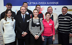 Slovenian National Team at press conference of Athletic Federation of Slovenia (AZS) before the 12th IAAF World Indoor Championships, Valencia, Spain, 7 ? 9 March 2008, on March 3, 2008 in M-Hotel, Ljubljana, Slovenia. (Photo by Vid Ponikvar / Sportal Images)