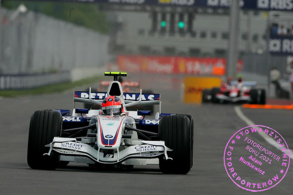 08.06.2007 Montreal, Canada, .Robert Kubica (POL), BMW Sauber F1 Team, F1.07 - Formula 1 World Championship, Rd 6, Canadian Grand Prix, Friday Practice .FOT. XPB.CC / WROFOTO.*** POLAND ONLY !!! ***.NO INTERNET / MOBILE USAGE