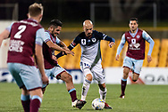 SYDNEY, AUSTRALIA - AUGUST 21: Melbourne Victory forward James Troisi (10) takes the ball past defenders at the FFA Cup Round 16 soccer match between APIA Leichhardt Tigers FC and Melbourne Victory at Leichhardt Oval in Sydney on August 21, 2018. (Photo by Speed Media/Icon Sportswire)