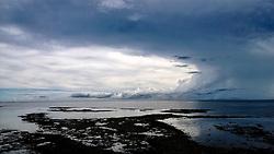 Scenic View Of Overcast Sky Over Sea