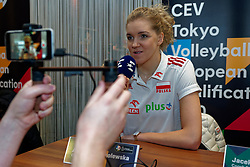 06–01-2020 NED: CEV Tokyo Volleyball European Qualification Women, Apeldoorn<br /> Press moment and representatives of the eight national teams for one spot Tokyo 2020 / Agnieszka Kakolewska, captain of Poland