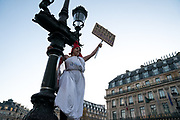 France, Paris, 25 November 2017. International Day for the Elimination of Violence against Women. Protest march against violence against women.