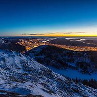 Winter sunset from Blåmanen
