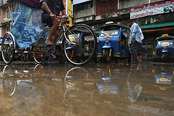 June 15, 2018 - Chiang Rai, Thailand - A view of Chiang Rain city center after heavy rain hits the city this afternoon. .On Friday, June 15, 2018, in Chiang Rai, Thailand. (Credit Image: © Artur Widak/NurPhoto via ZUMA Press)
