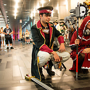 Lex Azevedo and Ruby Tiewishaw disguised as War Hammer characters at the cosplays convention Otakuthon held in Montreal.