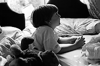 Ben in bed with Teddy