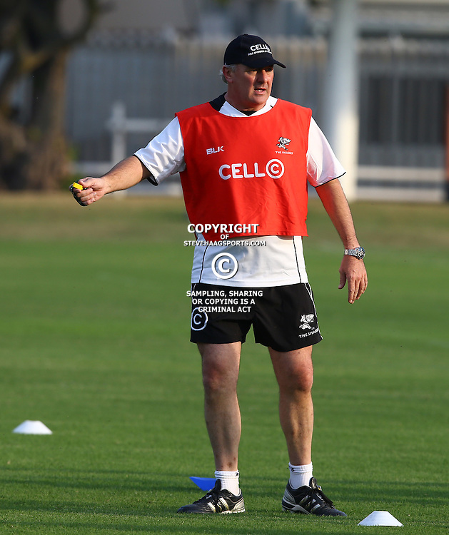DURBAN, SOUTH AFRICA - MAY 25: Gary Gold (Sharks Director of Rugby) during the Cell C Sharks training session at Growthpoint Kings Park on May 25, 2015 in Durban, South Africa. (Photo by Steve Haag/Gallo Images)