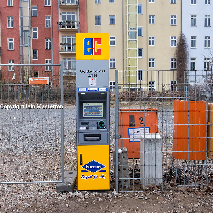 Isolated ATM machine in Berlin, Germany