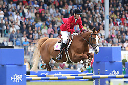 23.07.2017, Aachener Soers, Aachen, GER, CHIO Aachen, im Bild 0 Runde erster Umlauf: Luciana Dingt (POR) mit Fit for Fun // during the CHIO Aachen World Equestrian Festival at the Aachener Soers in Aachen, Germany on 2017/07/23. EXPA Pictures © 2017, PhotoCredit: EXPA/ Eibner-Pressefoto/ Roskaritz<br /> <br /> *****ATTENTION - OUT of GER*****
