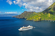 Paul Gauguin Cruise Ship, Hapatoni, Tahuata, Marquesas; French Polynesia; South Pacific