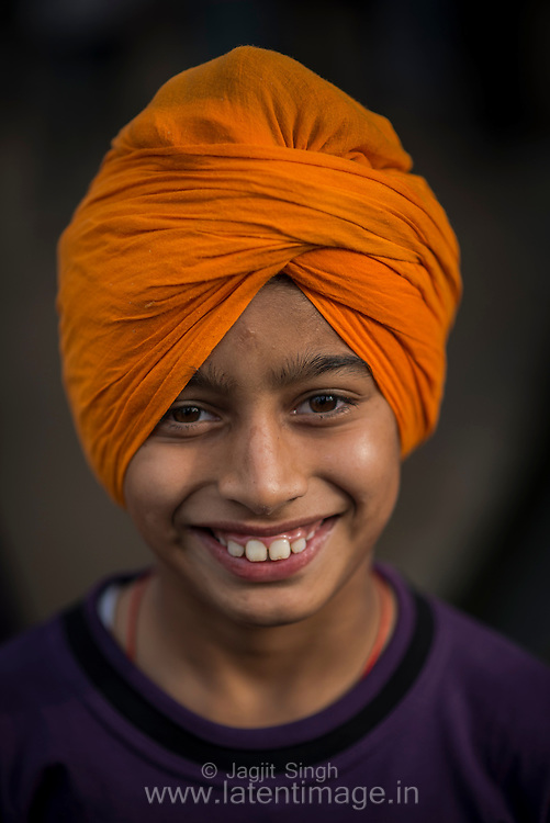 A Child at Hola Mohalla.