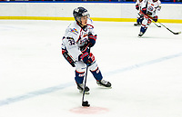 2020-01-22 | Kallinge, Sweden: Halmstad Hammers (32) Hampus Johansson during the game between Krif hockey and Halmstad Hammers at Soft Center Arena (Photo by: Jonathan Persson | Swe Press Photo)<br /> <br /> Keywords: kallinge, Ishockey, Icehockey, hockeyettan, allettan södra, soft center arena, krif hockey, halmstad hammers (Match code: krhh200122)