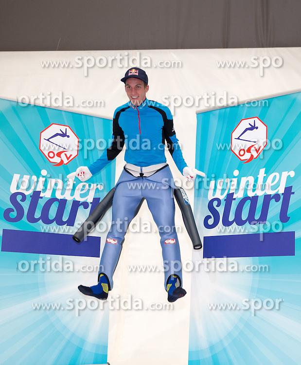 10.10.2015, Olympia Eisstadion, Innsbruck, AUT, OeSV Einkleidung Winterkollektion, während der Einkleidung der ÖSV- Mannschaften am Samstag, 10. Oktober 2015, in Innsbruck, im Bild Gregor Schlierenzauer // during the Outfitting of the Ski Austria Winter Collection at the Olympia Eisstadion in Innsbruck, Austria on 2015/10/10. EXPA Pictures © 2015, PhotoCredit: EXPA/ Johann Groder