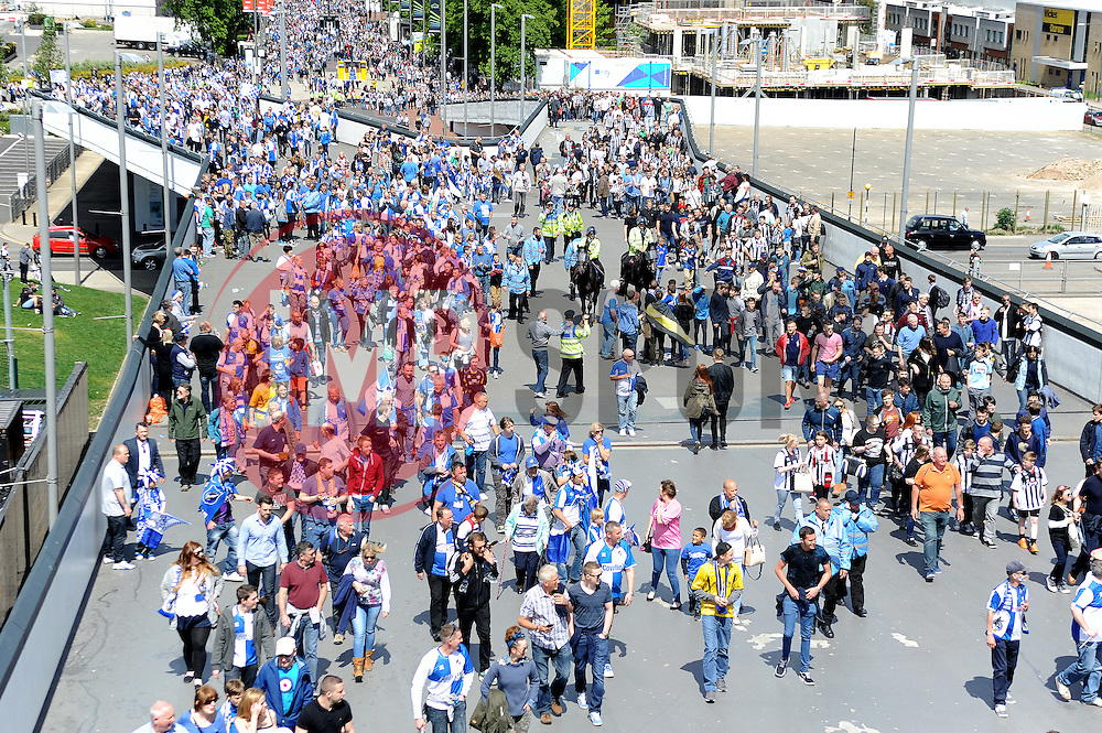 Fans - Photo mandatory by-line: Neil Brookman/JMP - Mobile: 07966 386802 - 17/05/2015 - SPORT - football - London - Wembley Stadium - Bristol Rovers v Grimsby Town - Vanarama Conference Football