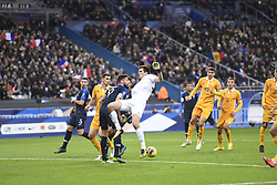 November 14, 2019, Saint Denis, FRANCE: 23 Alexei Koselev (mol) - 09 OLIVIER GIROUD (fra) - FAUTE (Credit Image: © Panoramic via ZUMA Press)
