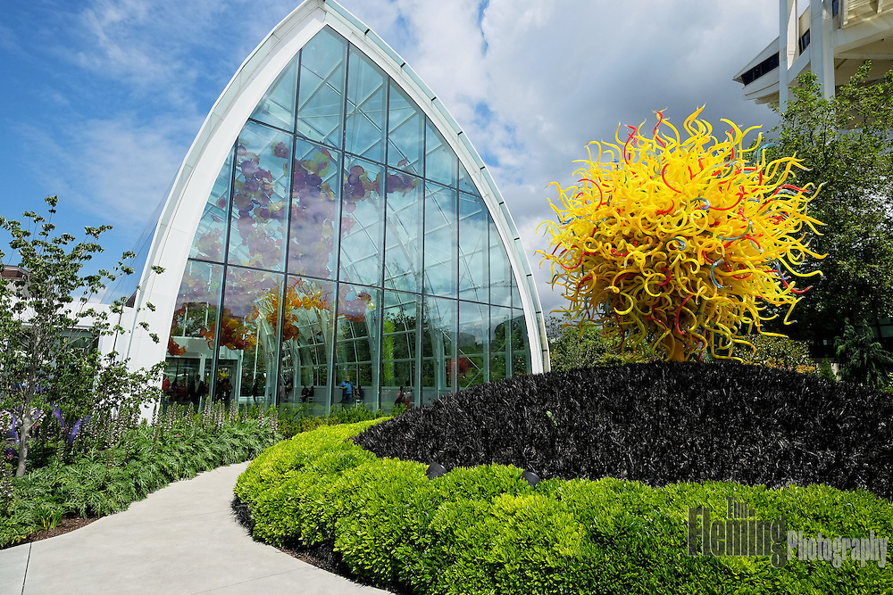 Chihuly Garden and Glass, a museum in Seattle, Washington, showcases the glass art of Dale Chihuly.