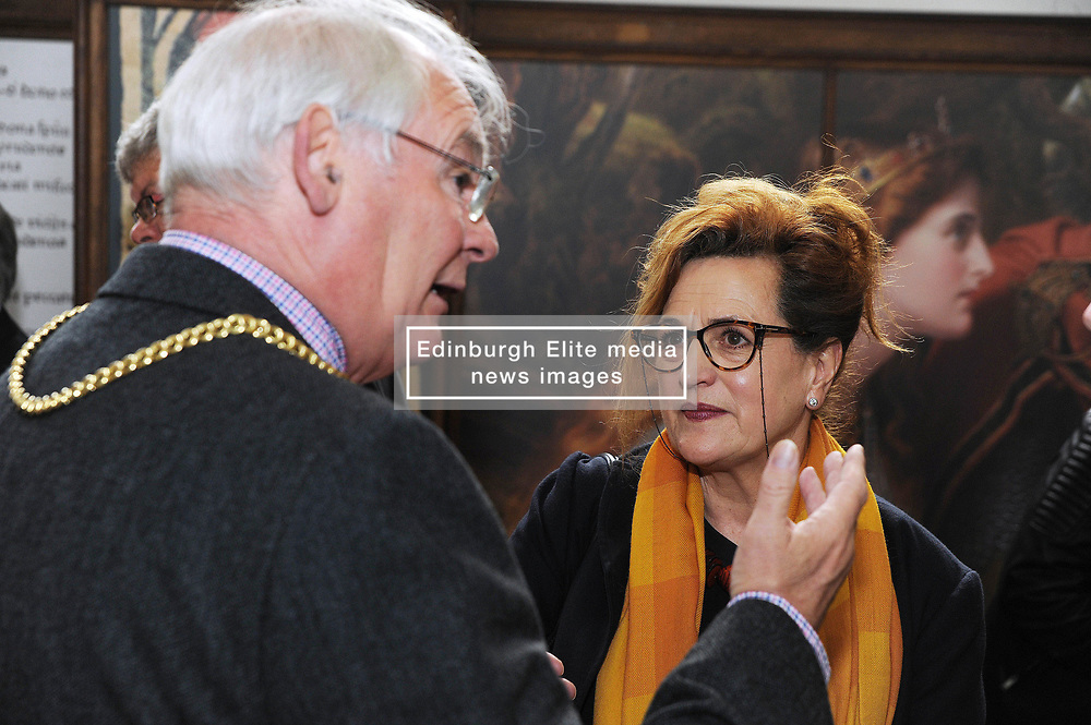 Dunfermline museum opening,Dunfermline, 6-9-2017<br /> <br /> Provist Jim Leishman and Brabara Dickson<br /> <br /> (c) David Wardle | Edinburgh Elite media