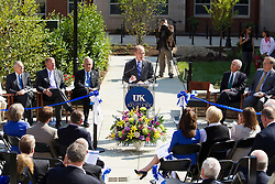 The University of Kentucky and EDR Colleigate housing company hosted a ribbon cutting for the new Center Hall Dormitory on UK's South Campus, Friday, Aug. 16, 2013 in Lexington.