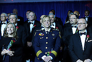 "Journalist Meredith Vieira, left, Washington, D.C. Police Chief Cathy L. Lanier, center, and Masoud ""Mike"" Altirs, Partner and Senior Vice President, GMA Accessories, Inc., attend the National Ethnic Coalition of Organizations' 2015 Ellis Island Medal of Honor awards ceremony, Saturday, May 9, 2015, on Ellis Island, where they were among 101 honored.  NECO's mission is to honor and preserve the diversity of the American people and to foster tolerance, respect and understanding among religious and ethnic groups. (Photo by Diane Bondareff/Invision for NECO/AP Images)"