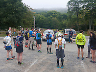 Cragsmoor, New York -  Runners listen to pre-race instructions before competing in the Shawangunk Ridge Trail Run/Hike 32-mile race on Sept. 20, 2014.