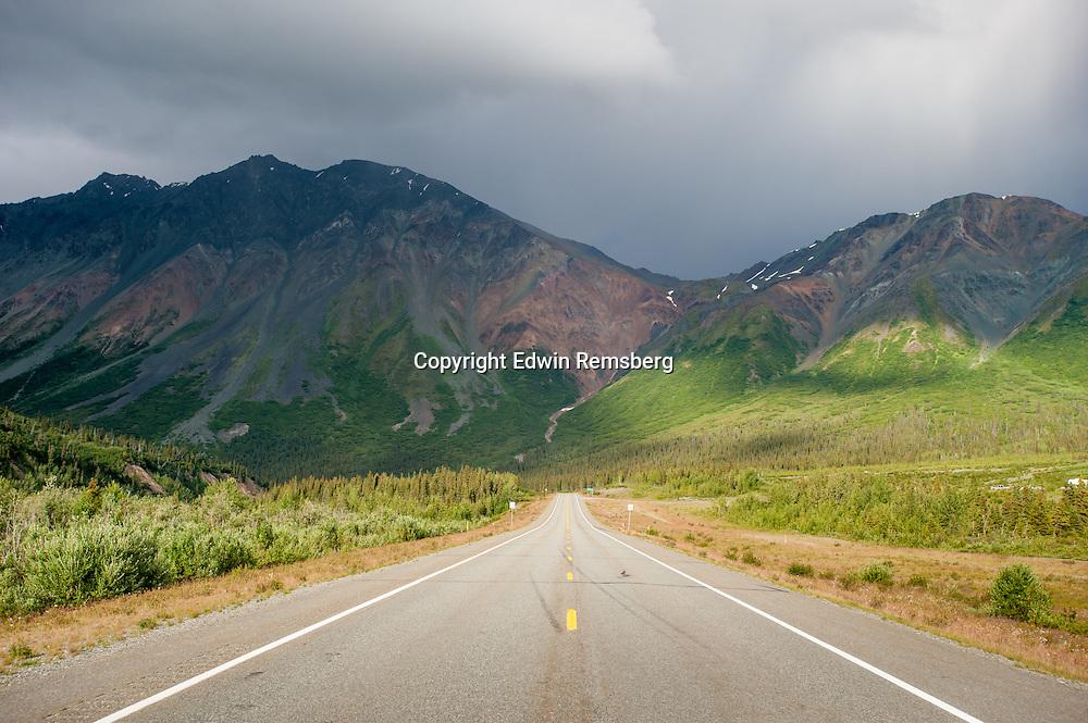 Scenic view of Richardson Highway Alaska