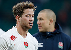 England replacement Danny Cipriani looks on - Photo mandatory by-line: Rogan Thomson/JMP - 07966 386802 - 14/02/2015 - SPORT - RUGBY UNION - London, England - Twickenham Stadium - England v Italy - 2015 RBS Six Nations Championship.