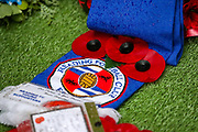 Reading Football Club Remberence Day Wreath laid ahead of the EFL Sky Bet Championship match between Reading and Luton Town at the Madejski Stadium, Reading, England on 9 November 2019.