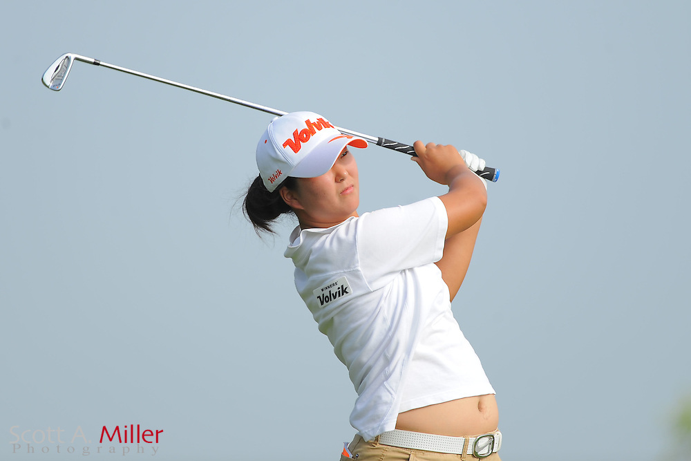 Min Seo Kwak during the second round of the Symetra Tour's Florida's Natural Charity Classic at the Lake Region Yacht and Country Club on March 24, 2012 in Winter Haven, Fla. ..©2012 Scott A. Miller.