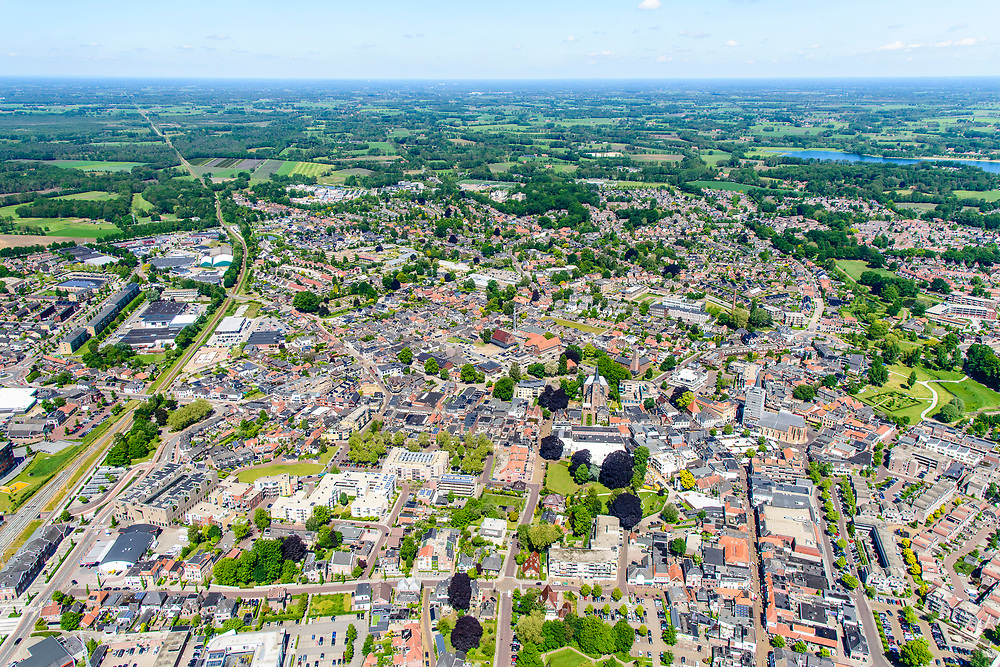 Nederland, Gelderland, Achterhoek, 29-05-2019; overzichtsfoto Winterswijk met in noordelijke richting het omliggende platteland.<br /> Overview photo Winterswijk with the surrounding countryside.<br /> <br /> luchtfoto (toeslag op standard tarieven);<br /> aerial photo (additional fee required);<br /> copyright foto/photo Siebe Swart