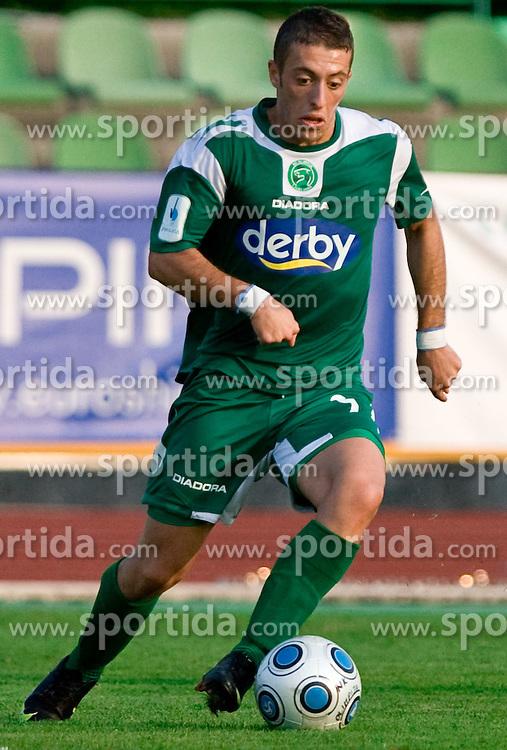 Agim Ibraimi of Olimpija  at football match between NK Olimpija vs Hit Gorica in 11th Round of Prva liga 2009 - 2010,  on September 27, 2009, in ZSD Ljubljana, Ljubljana, Slovenia.  (Photo by Vid Ponikvar / Sportida)