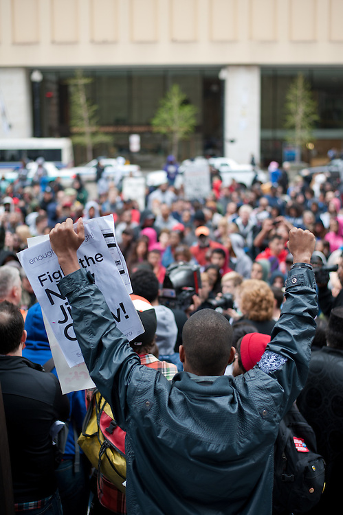 Seeking justice for Trayvon Martin at Daley Plaza.