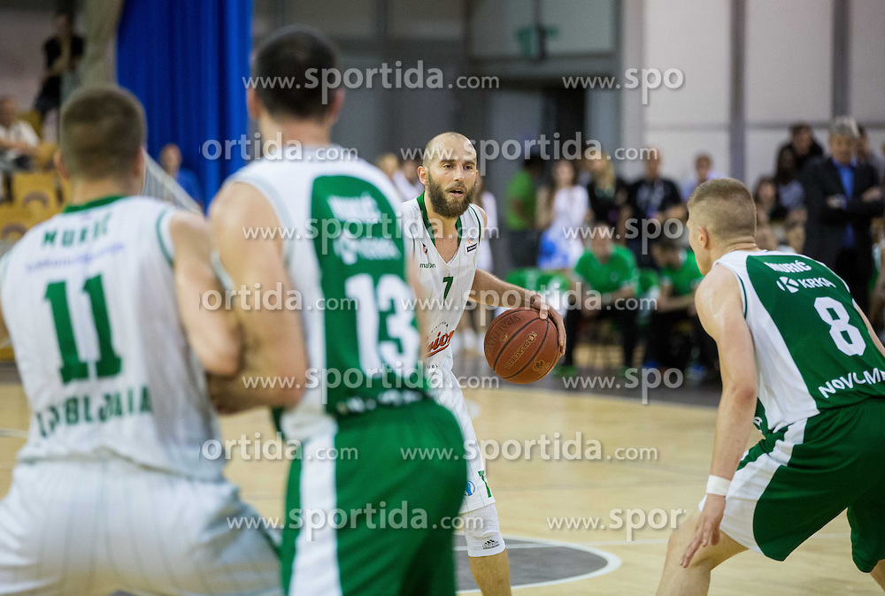 Nebojsa Joksimovic of Union Olimpija during basketball match between KK Union Olimpija and  KK Krka in 2nd Final match of Telemach League - Slovenian Championship 2013/14 on May 24, 2014 in Hala Tivoli, Ljubljana, Slovenia. Photo by Vid Ponikvar / Sportida