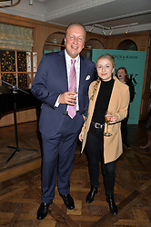 CHARLES PARAVICINI and his daughter SOPHIE PARAVICINI at a party hosted by Ewan Venters CEO of Fortnum & Mason to celebrate the launch of The Cook Book by Tom Parker Bowles held at Fortnum & Mason, 181 Piccadilly, London on 18th October 2016.