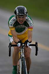 Nick Waite (KBS) during stage 1 of the Tour of Virginia.  The Tour of Virginia began with a 4.7 mile individual time trial near Natural Bridge, VA on April 24, 2007. Formerly known as the Tour of Shenandoah, the ToV has gained National Race Calendar (NRC) status for the first time in its five year history.