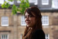 Ramita Navai<br /> Edinburgh International Book Festival 2014 photos taken in Charlotte Square Gardens. Edinburgh. Pako Mera 12/08/2014