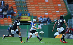 Cheslin Kolbe of Western Province kicks through the gap during the Currie Cup Premier Division match between the DHL Western Province and the Sharks held at the DHL Newlands Rugby Stadium in Cape Town, South Africa on the 3rd September  2016<br /> <br /> Photo by: Shaun Roy / RealTime Images