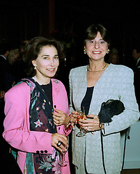 Left to right, BARONESS RAWLINGS and COUNTESS DOMINIQUE DE BORCHGRAVE, at a party in London on 16th 1997.LZJ 27