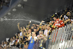 13.11.2011, Yas-Marina-Circuit, Abu Dhabi, UAE, Grosser Preis von Abu Dhabi, im Bild Podium - Fernando Alonso (ESP), Scuderia Ferrari  // during the Formula One Championships 2011 Large price of Abu Dhabi held at the Yas-Marina-Circuit, 2011/11/12. EXPA Pictures © 2011, PhotoCredit: EXPA/ nph/ Dieter Mathis..***** ATTENTION - OUT OF GER, CRO *****