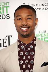 Michael B. Jordan at the 2014 Film Independent Spirit Awards Arrivals, Santa Monica Beach, Santa Monica, United States, Saturday, 1st March 2014. Picture by Hollywood Bubbles / i-Images<br /> UK ONLY