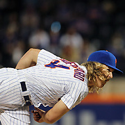 NEW YORK, NEW YORK - APRIL 25: Pitcher Noah Syndergaard #34 of the New York Mets pitching during the New York Mets Vs Cincinnati Reds MLB regular season game at Citi Field on April 25, 2016 in New York City. (Photo by Tim Clayton/Corbis via Getty Images)