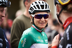 Elisa Longo Borghini (ITA) makes her way to sign on at OVO Energy Women's Tour 2018 - Stage 1, a 130 km road race from Framlingham to Southwold, United Kingdom on June 13, 2018. Photo by Sean Robinson/velofocus.com