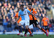 Tommy Spurr, Blackburn Rovers defender during the Sky Bet Championship match between Blackburn Rovers and Brighton and Hove Albion at Ewood Park, Blackburn, England on 21 March 2015.