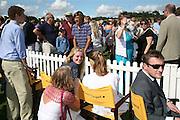 Abigail Dixon, Eliza Cowdray and Jolyon Fenwick, The Veuve Clicquot Gold Cup 2007. Cowdray Park, Midhurst. 22 July 2007.  -DO NOT ARCHIVE-© Copyright Photograph by Dafydd Jones. 248 Clapham Rd. London SW9 0PZ. Tel 0207 820 0771. www.dafjones.com.