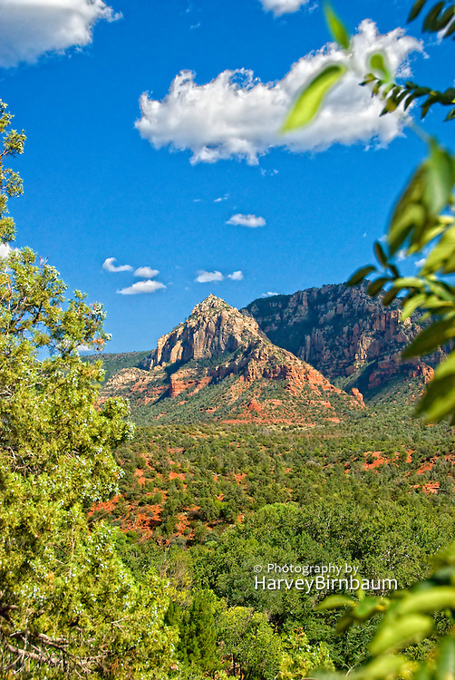 Sedona, USA, Arizona. Moody Red mountain formations.