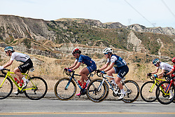 Chloe Dygert (USA) and Lauretta Hanson (AUS) in the bunch at Amgen Tour of California Women's Race empowered with SRAM 2019 - Stage 3, a 126 km road race from Santa Clarita to Pasedena, United States on May 18, 2019. Photo by Sean Robinson/velofocus.com
