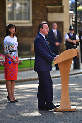 © Licensed to London News Pictures. 24/06/2016. London, UK. British prime minister DAVID CAMERON speaking  outside 10 Downing Street  on the day that the UK voted to leave the EU in a referendum. Photo credit: Ben Cawthra/LNP