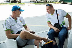 Jure Zdovc, Head coach and Matej Erjavec, president of KZS during meeting of Slovenian National Nasketball Team at the beginning of Training camp for Eurobasket 2015, on July 18, 2015 in Ljubljana, Slovenia. Photo by Vid Ponikvar / Sportida